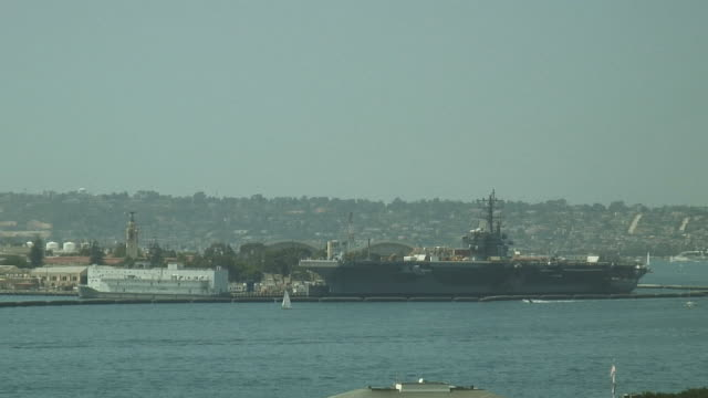 (HD1080i) Navy Boats Docked at Base, Pull