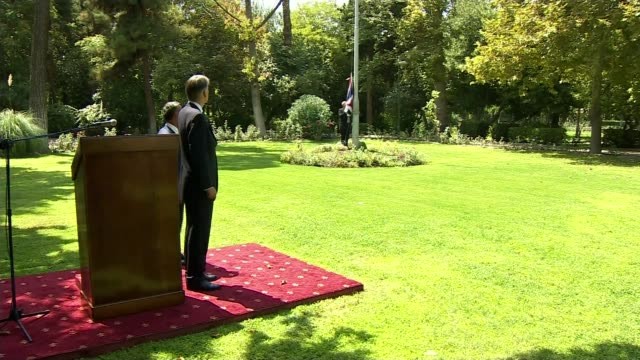 Boris Johnson apologises and raises possibility of diplomatic protection LIB / TX IRAN Tehran Philip Hammond MP attending ceremony in gardens of...
