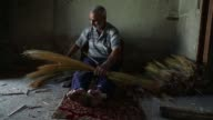 Nazir one of the last craftsman of his kind has been making straw brooms by hand in rebel held eastern Ghouta near Damascus for 25 years