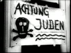 Nazis leave threatening antisemitic messages at Jewish businesses and encourage German citizens to boycott them