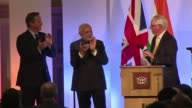 ndian Prime Minister Narendra Modi addresses City investors in London to showcase his countrys economic opportunities