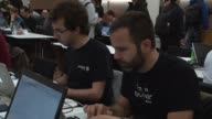 Nearly 300 hackers from all over Europe invaded Geneva on Friday but rather than trying to access the inner workings of Swiss banks they were instead...