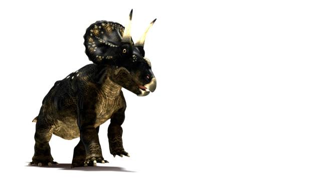 Nedoceratops dinosaur running