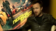 'Need for Speed' film interviews Cooper interview SOT on warcraft film Aaron Paul interview SOT on whether he is an adrenaline seeker on doing his...