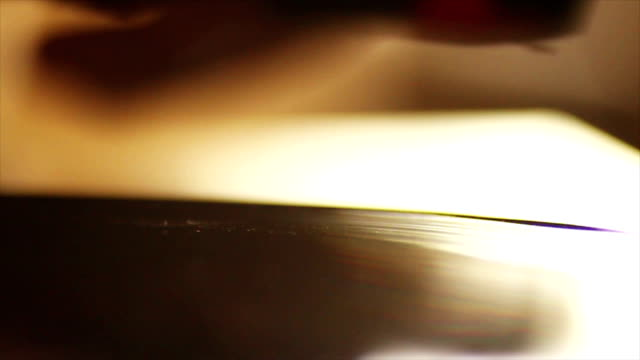 Needle is Placed onto A Spinning Record 1