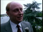 Paris Labour Leader Neil Kinnock intvw