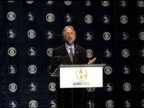 Neil Portnow announces and unveil this year's official artwork at the 2005 Grammy Awards Nominations Ceremony at Gotham Hall in New York New York on...