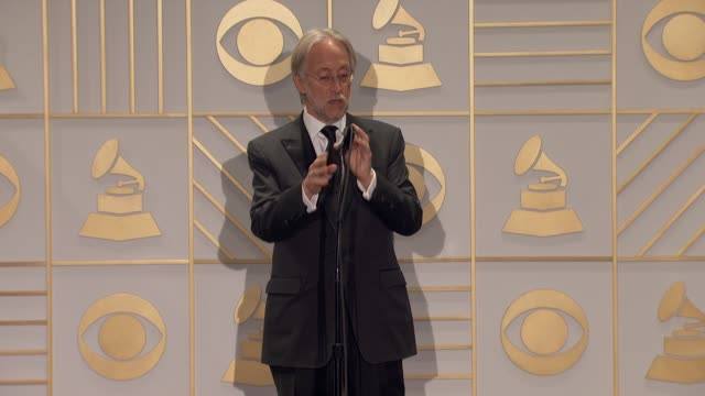 SPEECH Neil Portnow at 58th Annual GRAMMY Awards® Press Room at Staples Center on February 15 2016 in Los Angeles California