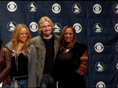 Neil Portnow Big Kenny John Rich Natasha Bedingfield Sway John Legend CeCe Winans Mariah Carey Chris Kroeger and Patti Labelle at the 2005 Grammy...