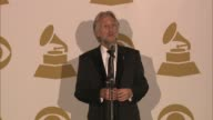 SPEECH Neil Portnow on artist lobbying the nominations at The 55th Annual GRAMMY Awards Press Room 2/10/2013 in Los Angeles CA