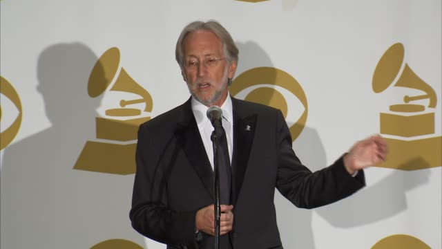 SPEECH Neil Portnow on this year's show what inspires songwriter's his highlights of tonight's show this week's events the upcoming Stevie Wonder...