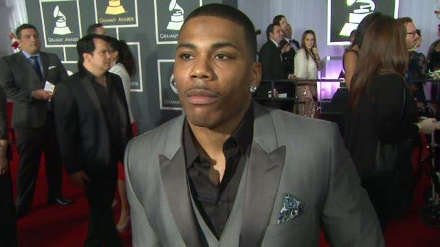 INTERVIEW Nelly on the event and on what it takes to stay relevant in music at The 55th Annual GRAMMY Awards Arrivals Interviews in Los Angeles CA on...
