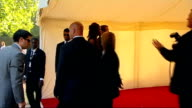 Nelson Mandela 90th birthday dinner in Hyde Park celebrity arrivals Naomi Campbell arriving with male