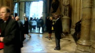 Nelson Mandela memorial service at Westminster Abbey arrivals ENGLAND London Westminster Westminster Abbey PHOTOGRAPHY*** GVs people inside...