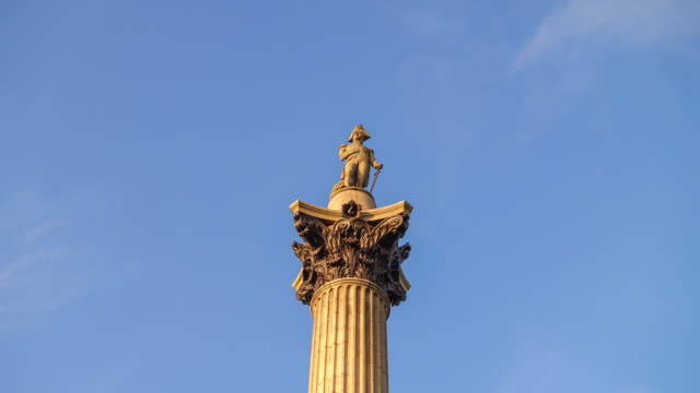 Nelson's Column in London's Trafalgar Square