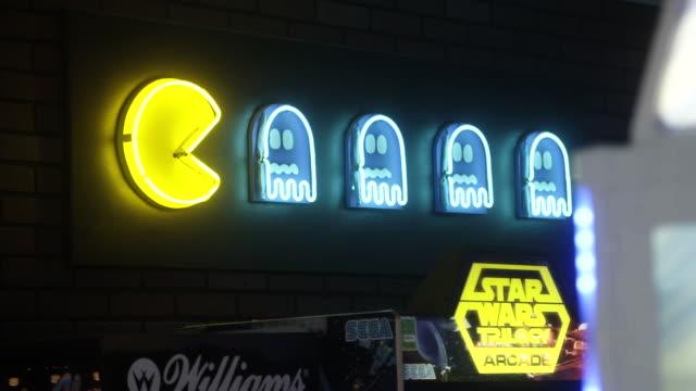 Neon arcade signs