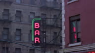 CU, Neon bar sign, Manhattan, New York City, New York, USA