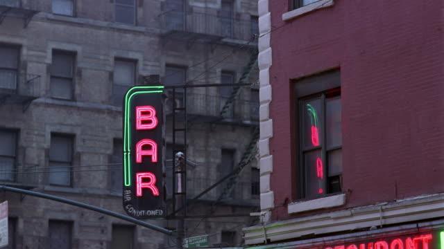 CU, Neon bar sign, Manhattan, New York City, New York, USA