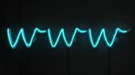 Neon Light Words - www Blue & White Glow (Full HD)