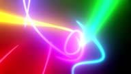Neon lines.