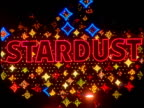 Neon sign reading Stardust flashing with multicolored lights Las Vegas