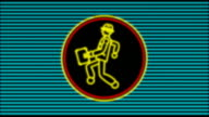 Neon Walking Businessman (4 loops)