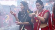 Nepalese Hindu women celebrate the Teej festival at the Pashupatinath Temple in Kathmandu Nepal on September 04 2016 Devotees pay their homage to...
