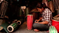 Nepalese Woman Drum Maker