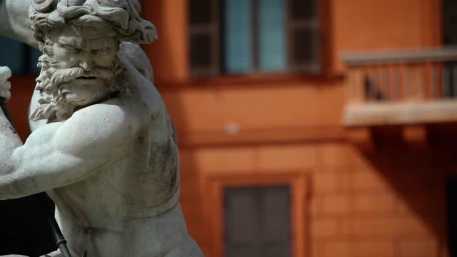 Neptune Statue at Piazza Navona in Rome
