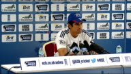 Net practice Press conferences Old Trafford gvs Alastair Cooke press conference SOT