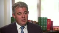 Net UK migration falls to lowest level in three years London INT Brandon Lewis MP interview SOT