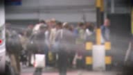 Net UK migration falls to lowest level in three years TX 1782017 / T17081717 London EXT Eurolines bus arriving at Victoria Coach Station Passengers...