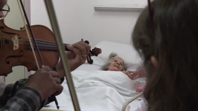 A network of musicians play live classical music at Alvarez Hospital in Buenos Aires to make the patients time and pain a bit more bearable