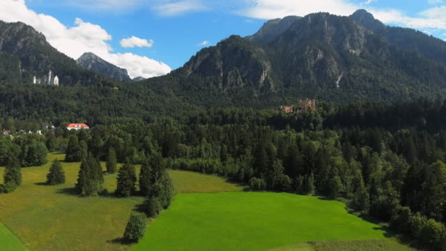 Neuschwanstein And Hohenschwangau Castles In Bavaria