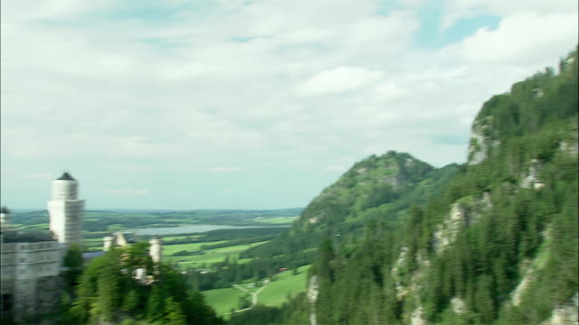 WS PAN Neuschwanstein Castle in mountain landscape, Bavaria, Germany