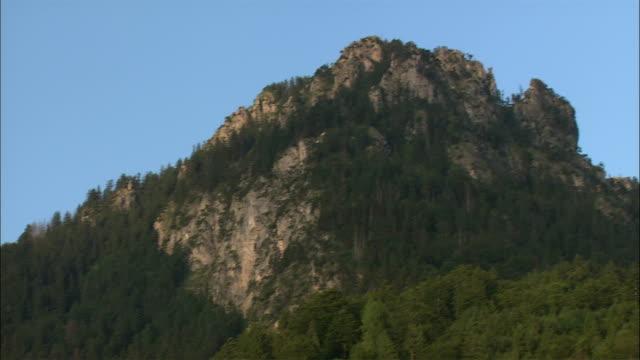 WS TD Neuschwanstein Castle in mountain landscape, Bavaria, Germany
