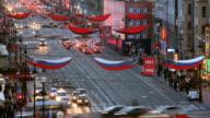 T/L HA Nevsky Prospect traffic day to night transition
