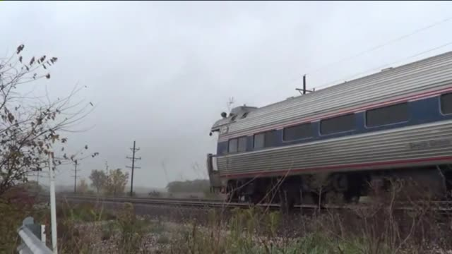 A new Amtrak train that travels between Chicago and St Louis can now hit 111 mph over a 15 mile stretch on October 19 2012 in Chicago Illinois