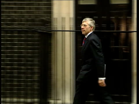 New antiterrorism and relgious hatred laws planned ITN London Downing Street EXT Foreign Secretary Jack Straw MP away from Number 10 PAN Leader of...
