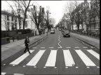 New Beatles footage released ITN London St Johns Wood i/c as across Abbey Road
