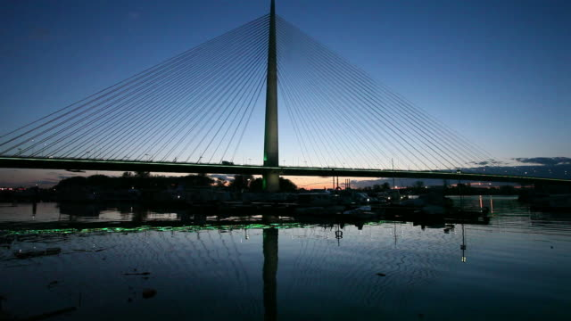New Belgrade Bridge on Sava river
