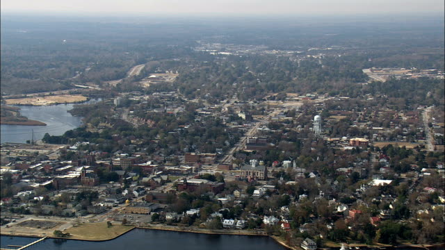 New Bern  - Aerial View - North Carolina,  Craven County,  United States