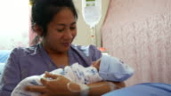 New born baby with mother