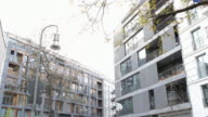 New buildings in Berlin Kreuzberg On the facade of a wall on the opposite side of these new constructions next to Waldemarstra��e corner Dresdner...