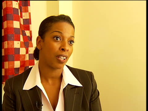 New campaign to discourage gun crime ENGLAND London INT Patricia DarlingtonDelaire interview SOT
