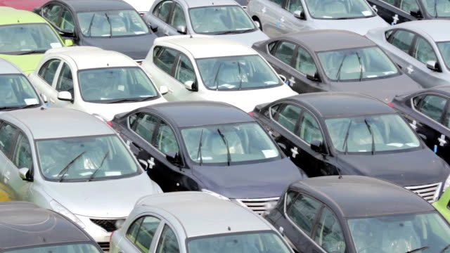 New cars for sale,High Angle View