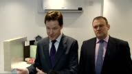 New Energy secretary Ed Davey and Nick Clegg vist a business consultancy in Watford INT Nick Clegg SOT re green energy Growth The future of the...