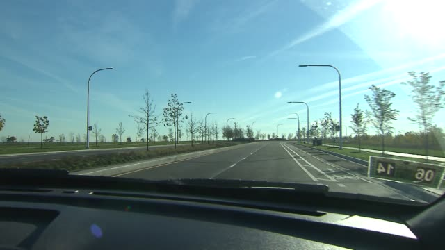 A new extension of Lake Shore Drive opened on Chicago's south side Driving POV Down Lake Shore Drive on October 27 2013 in Chicago Illinois