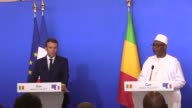 New French President Emmanuel Macron urges faster progress in a Mali peace accord signed in 2015 on his first official visit outside Europe while...