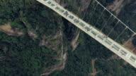 Neue Glas-Brücke von Hunan China